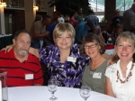 Valerie (Butler) John and husband, Charles, meet and greet with reunion first-timers Pamela Catt-Oliason and Joanne (Nie