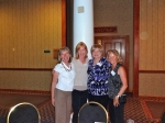Long-time friends reunite:  Joanne (Nieman) Hinkle, Karen (Buckalew) Kurth, Valerie (Butler) John, and Shawna (Schuerman